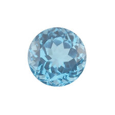 Natural Brazilian Swiss Blue Topaz AA Quality 2.5mm Faceted Round Loose gemstone