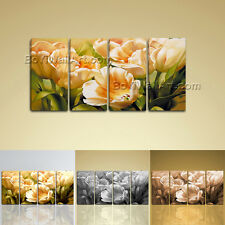Large Giclee Print Canvas Wall Art Tulip Flower Modern Abstract Floral Painting