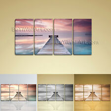 Large Ocean Sunrise Landscape Contemporary On Canvas Print Wall Art BedRoom