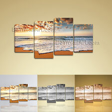 Large Size Print Contemporary Seascape Canvas Wall Art Abstract Painting Sunset