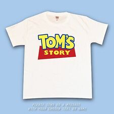 Your Toy Story Font Personalised Name Custom T Shirt Boys Girls Top Buzz Woody