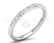 0.33Carat Round Brilliant & Baguette Cut Diamond Half Eternity Ring  in 9K Gold