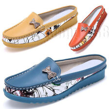 Womens Rhinestones Flats Slip on Mules Backless Loafers Sandals Casual Shoes