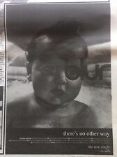 < BLUR - THERES NO OTHER WAY - original magazine advert small poster