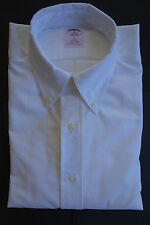 NWOT Brooks Brothers White Oxford Cloth Button Down Shirt OCBD Slim Fit USA