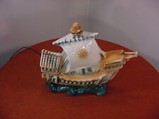 Vintage Marcia of California Lighted Ship Lamp