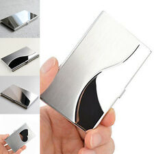 Business ID Credit Card Holder Box Case Metal Wallet Pocket Stainless Steel
