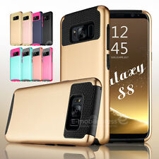 Rugged Rubber Matte Hard Shockproof Hybrid Case Cover for Samsung Galaxy S8 Plus