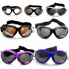 Global Vision Biker Goggle Eliminator One Size Fits All w. Strap, Assorted Color