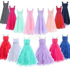 Flower Girls Communion Birthday Pageant Wedding Party Casual Formal Long Dresses
