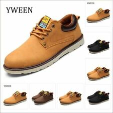 Casual Shoes Men Slip On Flat Waterproof Solid Lace-up Man Lace Up Oxford Suede