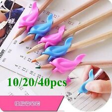 10/20/40 PCS Kids Soft Rubber Writing Handwriting Pencil Pen Grip Writing Aid
