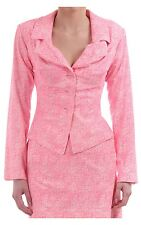 Women's Vivienne Westwood Anglomania Rosha Silk Jacket With Drapey Lapels Pink