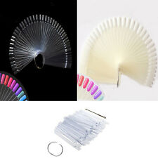 New 50Pcs Fan-Shaped False Tip Stick Polish Display Chart Nail Art Practice Tool