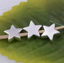 Wholesale 15pcs/50pcs/100pcs tibet silver five-pointed star spacer beads charm