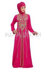 MOROCCAN DUBAI JALABIYA JILBAB ISLAMIC ARABIAN FANCY TAKCHITA MAXI DRESS 5799
