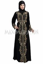 MOROCCAN DUBAI JALABIYA JILBAB ISLAMIC ARABIAN FANCY TAKCHITA MAXI DRESS 5783