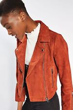 TOPSHOP *Rust Suede Biker Jacket* SIZE_UK6_8_10_12_14_16