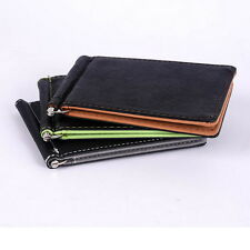 New Mens Card Coin Pockets Bifold Money Clip Leather Holder Wallets Purse
