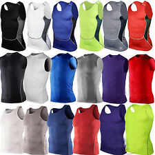 Mens Fitness Compression Vest Baselayer Tank Top T-shirt Sport Singlet Shirt Top
