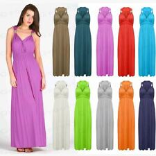 Ladies SPRING COIL Long Grecian Style Stretch Maxi Dress Womens Summer Size 8-14