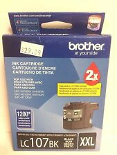 Genuine BROTHER LC107BK XXL BLACK INKJET • SEALED & NEW • JUNE 2015