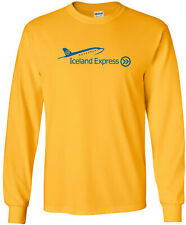 Iceland Express Vintage Logo Icelandic Airline Long-Sleeve T-Shirt