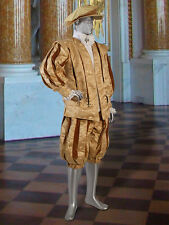 Renaissance Medieval Doublet Coat Handmade from Damask and Lined