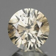 0.38ct 4.5mm FULL FIRE ROUND FANCY STEEL GRAY NATURAL LOOSE DIAMONDS