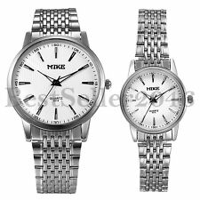 Business New Womens Mens Quartz Stainless Steel Couple Sports Analog Wrist Watch