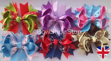 Boutique Stacked Sailor Ribbon Hair Bow Alligator Clip Girl Cheerleader