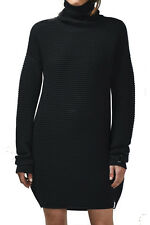 NEW ONE TEASPOON LOVERS RIB KNIT DRESS S M 2 4 6 8 10 12 $150 WOMEN JUMPER BLACK