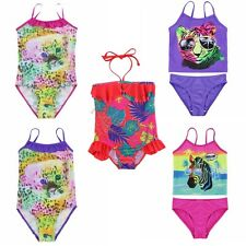 NEW Baby Toddler Girls Leopard Swimwear Swimsuit Ruffles One-Piece Bathing Suits