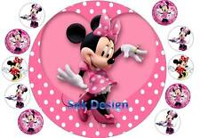 7 inch Mini Mouse and 10 cup cake topper on Edible Rice Paper