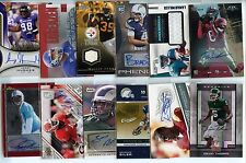 FOOTBALL AUTO JERSEY LOT 12 CARDS PICTURED FINEST #D FIRE TOTALLY CERTIFIED SPX+