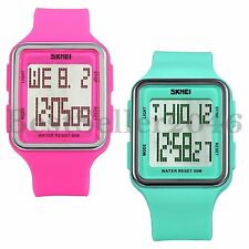 Fashion Jelly Color LED Waterproof Sport Electronic Wrist Watch For Kid Boy Girl