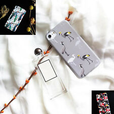 1Pcs Fashion Color Shell For iPhone Back Phone New Cover Crane Case Soft Mobile