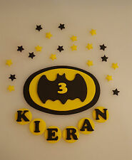 Batman Edible Decoration Personalised Fondant Icing Cake Toppers Birthday