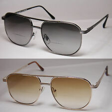 BIFOCAL READING SUN GLASSES SPRING HINGE AVIATOR RETRO GLASSES READERS-106BF