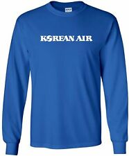 Korean Air Lines Vintage Logo South Korean Airline Long-Sleeve T-Shirt