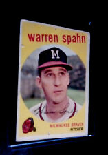 1959 Topps Warren Spahn Milwaukee Braves #40C Baseball Card