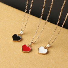 Gossip Girl Serena Red Hearts with Love Necklace Clavicle Chain Models Clover