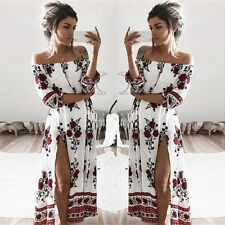 Womens Summer Boho Long Maxi Dress Evening Cocktail Party Beach Dress Sundress