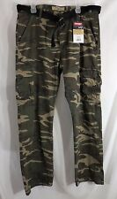 Wrangler Belted Cargo Pants Camo Camouflage Mens Sizes 34 36 38 40 44 46 Nwt New