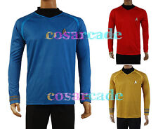 Star Trek Into Darkness Captain Kirk/Spock Casual Shirt Uniform Costume COSplay