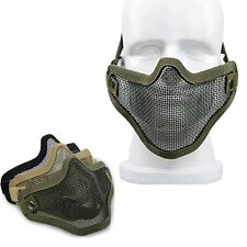 Tactical Mesh Airsoft Mask Paintball Half Face Protection Hunting Strike Style