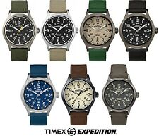 Timex Expedition Scout Fabric & Leather Strap Gents Watch With Backlight
