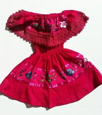 Mexican Girls Dress Lace PINK Gypsy Embroidered Peasant Bohemian Toddler 1T-4T