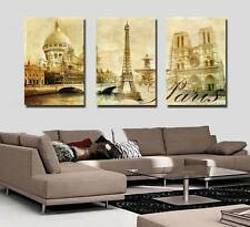 Art Oil Painting Modern Home Decor Eiffel Tower Picture Print on Canvas No Frame
