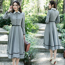 Mori girl Long Sleeve Dress Vintage Palace Elegant Lady Lolita Princess Style